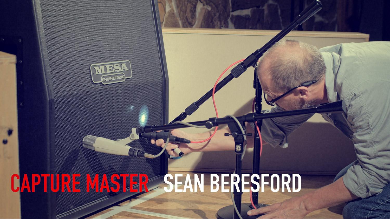 Sean Beresford (Capture Master) Mic'ing a cabinet