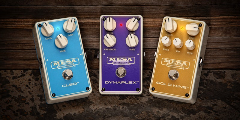 The MESA/ Boogie Cleo, DynaPlex and Gold Mine drive pedals