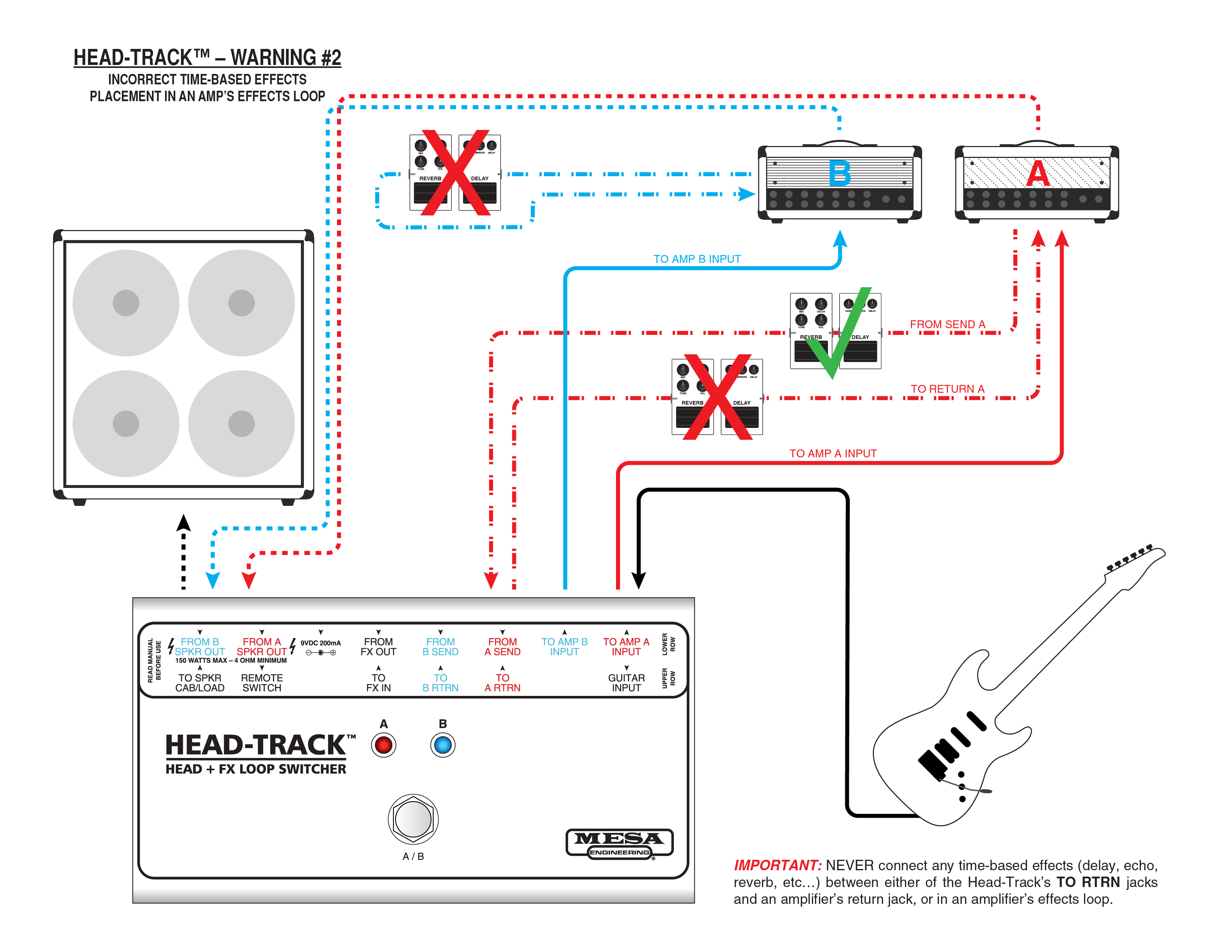 Mesa Boogie Head Track Guitar Amplifier Fx Loop Switcher Midi Effects Looper Wiring Diagram View High Res Version Opens In New Window