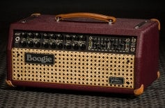 JP-2C Head - British Cabernet Bronco Vinyl, Wicker Grille