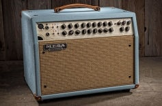 Rosette 300 / Two: Eight Acoustic Combo - Baby Blue Bronco, Cream & Tan Jute Grille