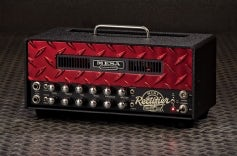 Mini Rectifier 25 - Red Diamond Plate, Black Vent, Red LED